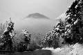 Картинка пейзаж, фото, лес, обои, дорога, зима, горы