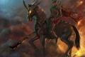 Картинка конь, воин, всадник