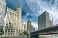 Картинка небо, город, здания, небоскребы, Чикаго, Иллиноис