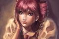Картинка девушка, рука, арт, розовые волосы, Momoyuki