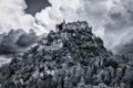 Картинка небо, облака, деревья, скалы, Австрия, Каринтия, Санкт-Георген