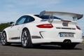 Картинка белый, 911, 997, Porsche, Порше, вид сзади, GT3