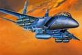 Картинка ВВС, истребитель, авиация, F-15E, самолёт, двухместный