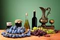 Картинка варенье, виноград, фрукты, сливы, натюрморт