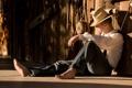 Картинка тень, отдых, солнце, шляпа