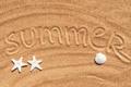Картинка песок, море, лето, ракушки