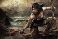Картинка лук, Lara Croft, кулон, Tomb Raider, Лара Крофт
