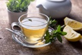 Картинка стекло, лимон, чай, чашка, цитрус, блюдце