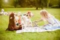 Картинка лето, игрушки, девочка