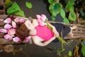 Картинка девушка, природа, лилии