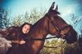 Картинка волосы, лошадь, девочка
