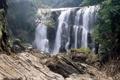 Картинка лес, камни, водопад, Индия