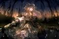 Картинка девушка, магия, зонт, аниме, арт, чепчик, touhou