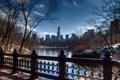 Картинка город, парк, небоскребы, USA, америка, сша, New York City
