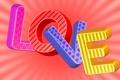 Картинка любовь, буквы, фон, надпись, цветные, love, слово