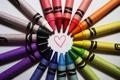 Картинка любовь, сердце, рисунок, позитив, карандаши, сердечко, разноцветные