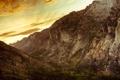 Картинка закат, горы, каньон, Монтана, montana