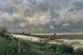 Картинка пейзаж, природа, картина, Карлос де Хаэс, Дюны Виллервиля