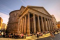 Картинка люди, площадь, Рим, Италия, колонны, Пантеон