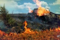 Картинка поле, огонь, Германия, арт, танк, танки, WoT