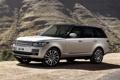 Картинка фон, гора, серебристый, джип, внедорожник, Land Rover, Range Rover