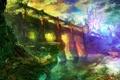 Картинка мост, город, река, башня, арки, фантастический мир, Majin and the Forsaken Kingdom