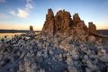 Картинка landscape, tufa, mono lake, mountains, sunset, rocky, state park