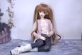 Картинка кукла, сидит, игрушка, длинные волосы