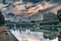 Картинка мост, река, Рим, Италия