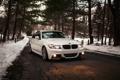 Картинка зима, снег, бмв, BMW, дорожка, белая, 3 series