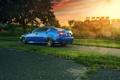 Картинка блик, завод, IS F, rear, sun, Lexus, blue