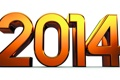 Картинка золото, новый год, цифры, new year, 2014
