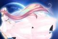 Картинка луна, аниме, платье, бантики, розовые волосы, Princess Chibiusa