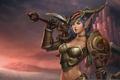 Картинка эльфийка, world of warcraft, trading card game