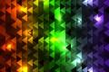 Картинка абстракция, разноцветные, треугольники