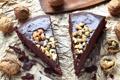 Картинка шоколад, пирожное, крем, орехи, сладкое, десерт, cake