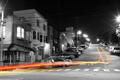 Картинка город, огни, улица