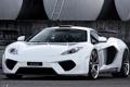 Картинка белый, фон, тюнинг, McLaren, суперкар, диски, tuning