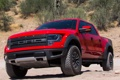 Картинка красный, Ford, red, передок, front, F-150, SVT Raptor