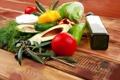 Картинка масло, укроп, перец, овощи, помидор, капуста, маслины