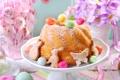 Картинка весна, decoration, кекс, Easter, яйца, Пасха, flowers