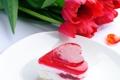 Картинка фото, Цветы, Сердце, Тюльпаны, Еда, Пирожное, Выпечка