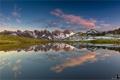 Картинка природа, панорама, горы, отражение, озеро