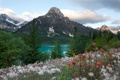 Картинка облака, небо, озеро, alberta, banff national park, canada, горы
