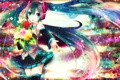 Картинка девушка, цветы, розы, colorful, арт, vocaloid, hatsune miku