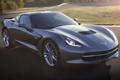 Картинка Chevrolet, Шевроле, передок, Корвет, Stingray, Corvette, серый