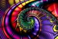 Картинка узор, цвет, спираль, объем, завиток