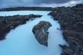 Картинка море, ночь, скалы, Исландия, фиорд