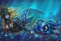 Картинка League of Legends, Nami, под водой, Fizz, океан, Tidecaller, Tidal Trickster