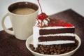 Картинка чашка, торт, кусок